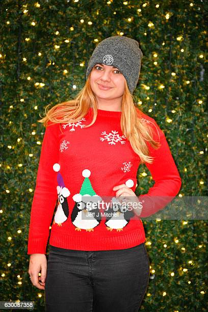 Sophie Corrigan wears a Christmas jumper while shopping in Buchanan Street on December 16 2016 in GlasgowScotland Christmas Jumper Day is now an...