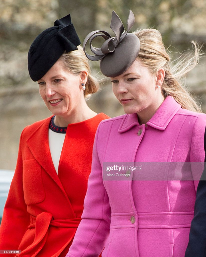 The Royal Family Attend Easter Sunday Service At Windsor Castle : News Photo