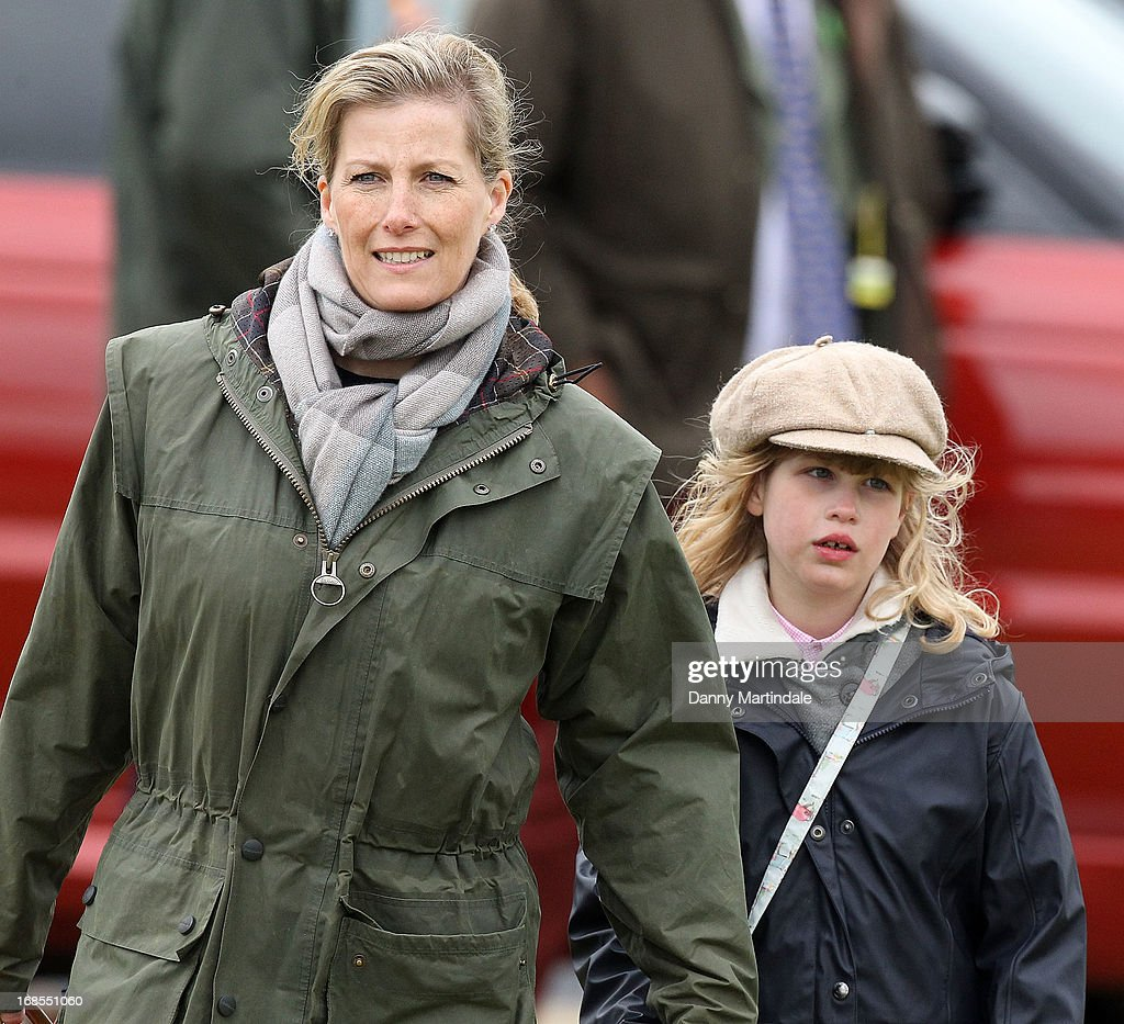 Sophie, Countess of Wessex and daughter Lady Louise Windsor attend day 4 of the Royal Windsor Horse Show on May 11, 2013 in Windsor, England.