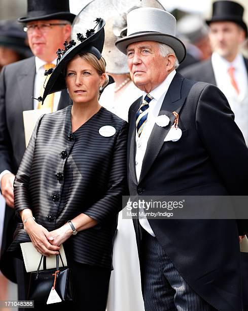 Sophie Countess of Wessex and her father Christopher RhysJones attend Day 4 of Royal Ascot at Ascot Racecourse on June 21 2013 in Ascot England