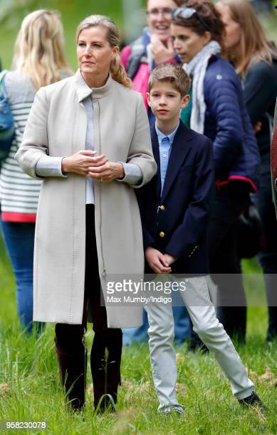 Sophie Countess of Wessex and James Viscount Severn attend day 4 of the Royal Windsor Horse Show in Home Park on May 12 2018 in Windsor England This...