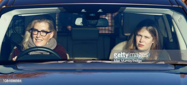 Sophie Countess of Wessex and Lady Louise Windsor attend a Christmas lunch for members of the Royal Family hosted by Queen Elizabeth II at Buckingham...