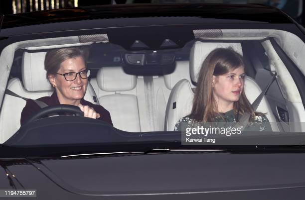 Sophie Countess of Wessex and Lady Louise Windsor attend Christmas Lunch at Buckingham Palace on December 18 2019 in London England