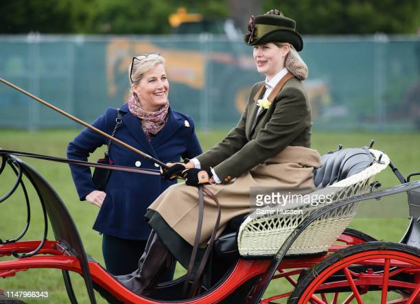 Sophie, Countess of Wessex and Lady Louise Windsor attend the Royal Windsor Horse Show 2019 on May 09, 2019 in Windsor, England.