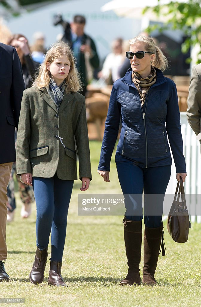 Sophie, Countess of Wessex and Lady Louise Windsor attend the Royal Windsor Horse show in the private grounds of Windsor Castle on May 16, 2015 in Windsor, England.