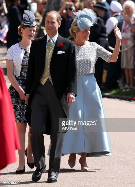 Sophie Countess of Wessex and Prince Edward arrive for the wedding ceremony of Prince Harry and US actress Meghan Markle at St George's Chapel...