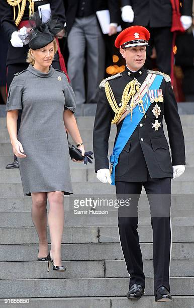 Sophie Countess of Wessex and Prince Edward Earl of Wessex attend a Service of Commemoration to mark the end of combat operations in Iraq at St...