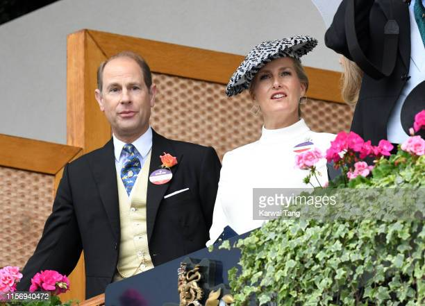 Sophie, Countess of Wessex and Prince Edward, Earl of Wessex attend day two of Royal Ascot at Ascot Racecourse on June 19, 2019 in Ascot, England.