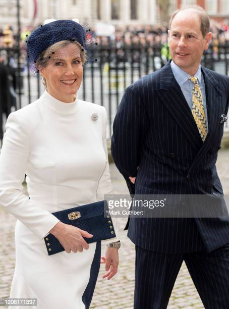 Sophie Countess of Wessex and Prince Edward Earl of Wessex attend the Commonwealth Day Service 2020 at Westminster Abbey on March 9 2020 in London...