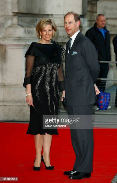 Sophie Countess of Wessex and Prince Edward Earl of Wessex attend the private view of the Grace Kelly Style Icon exhibition at Victoria Albert Museum...