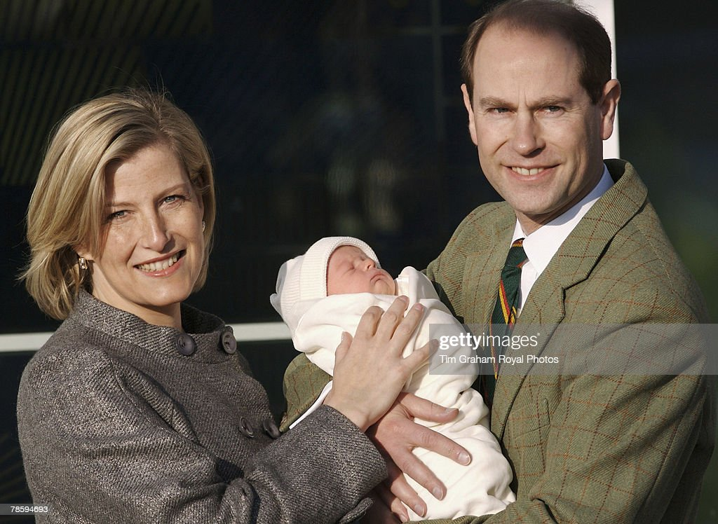 Earl & Countess of Wessex With Their Baby Son : News Photo