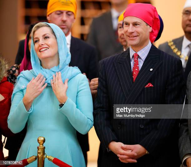 Sophie, Countess of Wessex and Prince Edward, Earl of Wessex visit the Sri Guru Singh Sabha Southall Gurdwara to celebrate the Gurdwara's new...