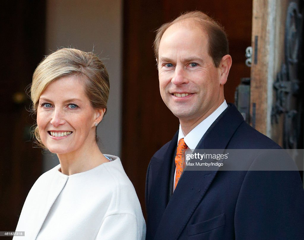 The Earl And Countess Of Wessex Attend Engagements On The 50th Birthday Of The Countess : News Photo