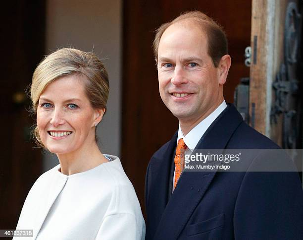 Sophie Countess of Wessex and Prince Edward Earl of Wessex visit the Tomorrow's People Social Enterprises at St Anselm's Church Kennington on the...