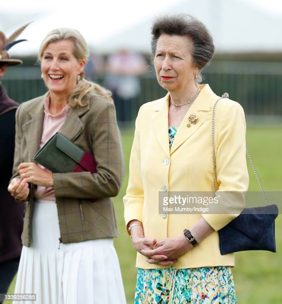 Sophie, Countess of Wessex and Princess Anne, Princess Royal visit the Westmorland County Show on September 9, 2021 in Milnthorpe, England.