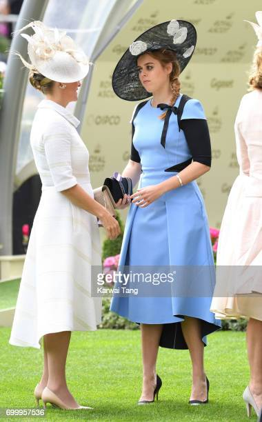 Sophie Countess of Wessex and Princess Beatrice of York attend Ladies Day of Royal Ascot 2017 at Ascot Racecourse on June 22 2017 in Ascot England