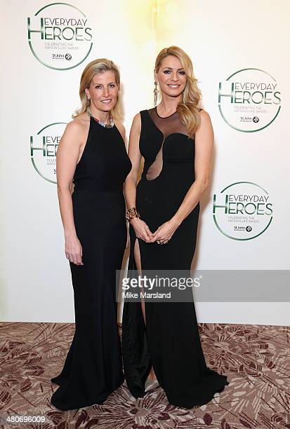 Sophie Countess of Wessex and Tess Daly attend the starstudded St John Ambulance Everyday Heroes celebration of the nation's life savers at the Royal...