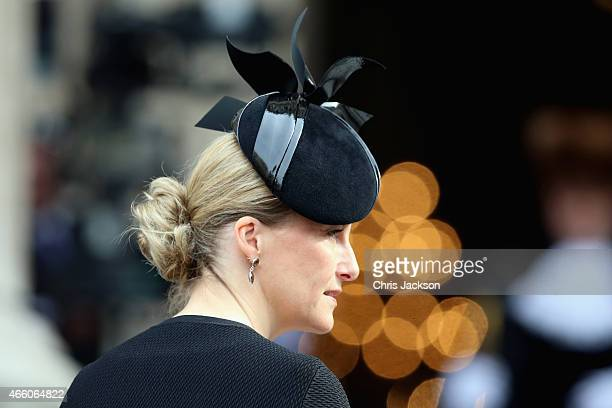 Sophie Countess of Wessex arrives for a Service of Commemoration for troops who were stationed in Afghanistan on March 13 2015 in London England