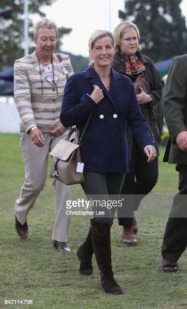 Sophie Countess of Wessex arrives for Day Four of The Land Rover Burghley Horse Trials 2017 on September 2 2017 in Stamford England
