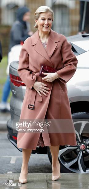 Sophie Countess of Wessex arrives to open The Countess of Wessex Studios at the Central School of Ballet's new premises on February 27 2020 in London...