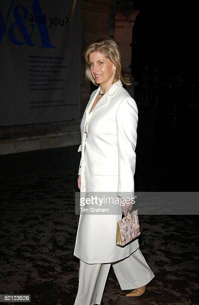 Sophie Countess of Wessex at the V A for a reception to launch the exhibition 'Style and Splendour Queen Maud of Norway's Wardrobe 18961938' part of...