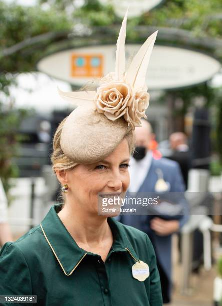 Sophie, Countess of Wessex attend Royal Ascot 2021 at Ascot Racecourse on June 17, 2021 in Ascot, England.