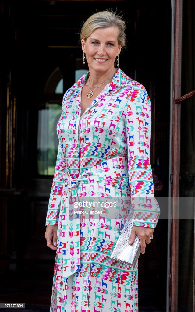 Sophie, Countess of Wessex attends a charity reception and dinner at Harewood House on June 11, 2018 in Leeds, England.