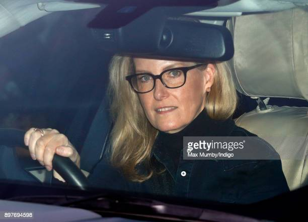 Sophie Countess of Wessex attends a Christmas lunch for members of the Royal Family hosted by Queen Elizabeth II at Buckingham Palace on December 20...