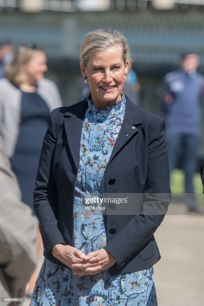 Sophie, Countess of Wessex attends a Gold Awards ceremony for the Duke of Edinburgh's Award in the gardens at Buckingham Palace on May 17, 2018 in London, England.