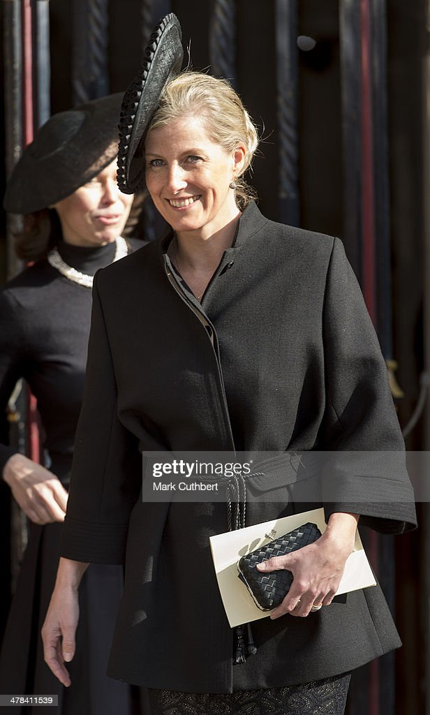The Prince Of Wales And Duchess Of Cornwall Attend A Memorial Service For Sir David Frost : News Photo