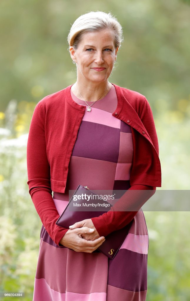 The Countess Of Wessex Attends A Service Of Dedication At The National Memorial Arboretum : News Photo