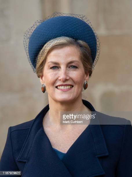 Sophie Countess of Wessex attends a Service of Thanksgiving for the life and work of Sir Donald Gosling at Westminster Abbey on December 11 2019 in...