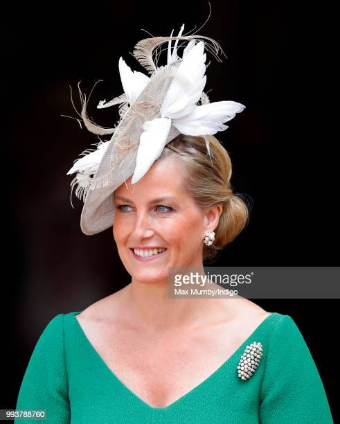 Sophie Countess of Wessex attends a service to celebrate the 70th Anniversary of the NHS at Westminster Abbey on July 5 2018 in London England The...