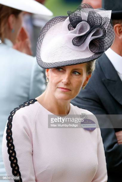 Sophie, Countess of Wessex attends day 1 of Royal Ascot at Ascot Racecourse on June 19, 2018 in Ascot, England.