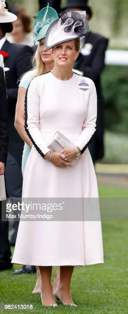 Sophie Countess of Wessex attends day 1 of Royal Ascot at Ascot Racecourse on June 19 2018 in Ascot England