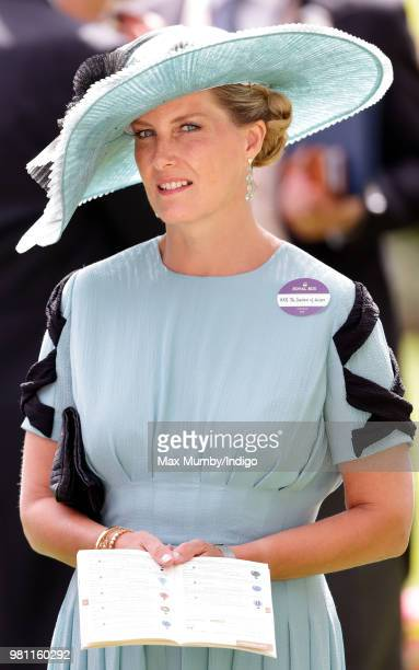 Sophie, Countess of Wessex attends day 2 of Royal Ascot at Ascot Racecourse on June 20, 2018 in Ascot, England.