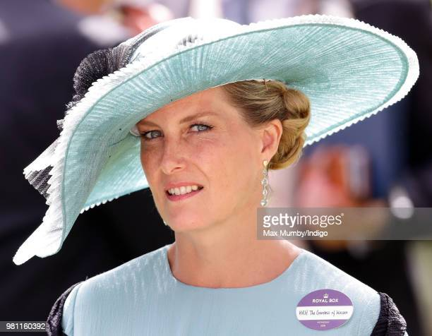 Sophie Countess of Wessex attends day 2 of Royal Ascot at Ascot Racecourse on June 20 2018 in Ascot England