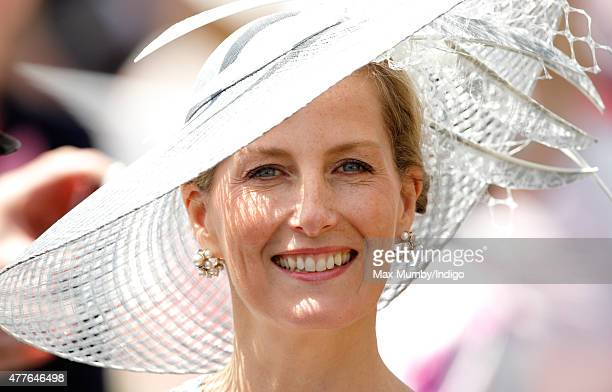 Sophie Countess of Wessex attends day 3 Ladies Day of Royal Ascot at Ascot Racecourse on June 18 2015 in Ascot England