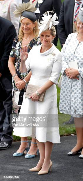 Sophie Countess of Wessex attends day 3 Ladies Day of Royal Ascot at Ascot Racecourse on June 22 2017 in Ascot England