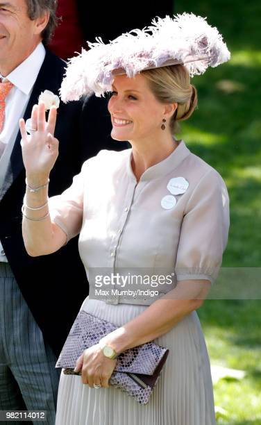 Sophie Countess of Wessex attends day 3 'Ladies Day' of Royal Ascot at Ascot Racecourse on June 21 2018 in Ascot England