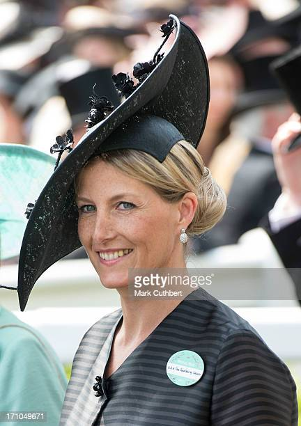 Sophie Countess of Wessex attends Day 4 of Royal Ascot at Ascot Racecourse on June 21 2013 in Ascot England