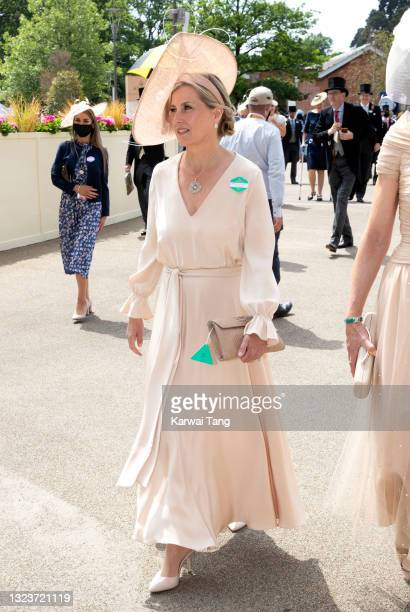 Sophie, Countess of Wessex attends day one of Royal Ascot 2021 at Ascot Racecourse on June 15, 2021 in Ascot, England.