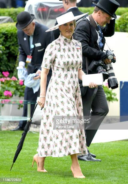 Sophie Countess of Wessex attends day one of Royal Ascot at Ascot Racecourse on June 18 2019 in Ascot England