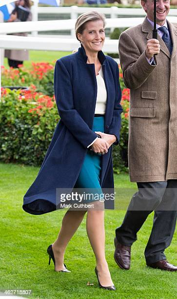 Sophie Countess of Wessex attends day one of the Autumn Meeting at Ascot Racecourse on October 5 2012 in Ascot England