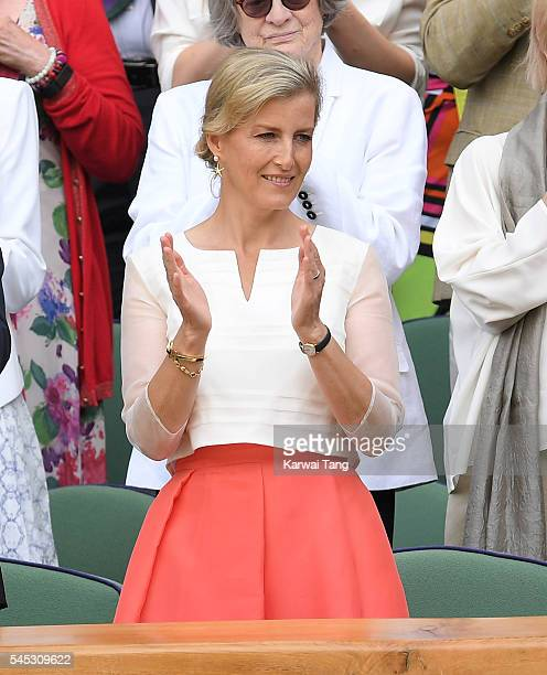 Sophie Countess of Wessex attends day ten of the Wimbledon Tennis Championships at Wimbledon on July 07 2016 in London England