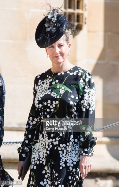 Sophie Countess of Wessex attends Easter Sunday service at St George's Chapel on April 21 2019 in Windsor England