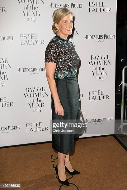 Sophie Countess of Wessex attends Harper's Bazaar Women of the Year Awards at Claridge's Hotel on November 3 2015 in London England