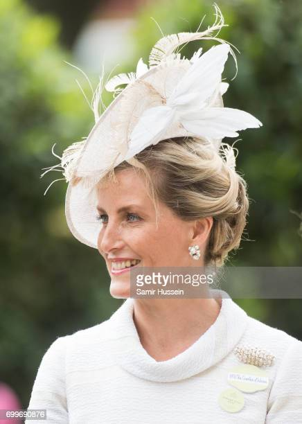 Sophie Countess of Wessex attends Royal Ascot 2017 at Ascot Racecourse on June 22 2017 in Ascot England