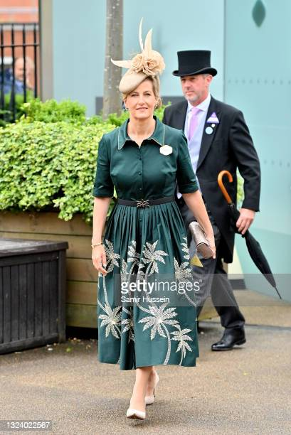 Sophie, Countess of Wessex attends Royal Ascot 2021 at Ascot Racecourse on June 17, 2021 in Ascot, England.