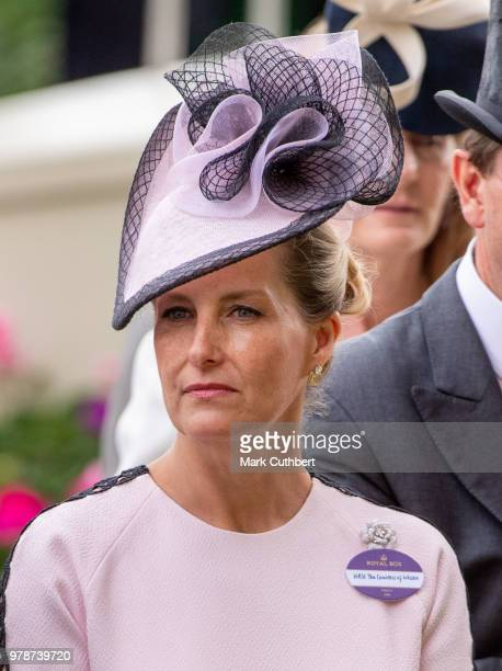 Sophie Countess of Wessex attends Royal Ascot Day 1 at Ascot Racecourse on June 19 2018 in Ascot United Kingdom